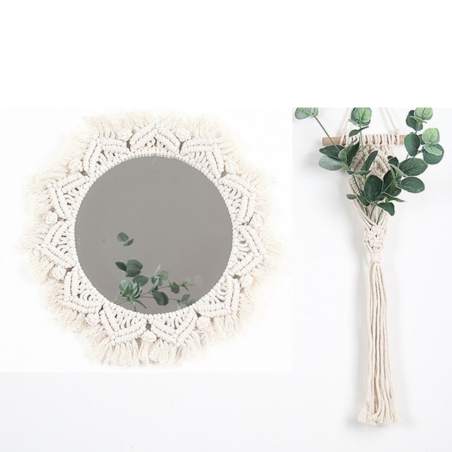 Boho Style Macrame Wall Mirror 2