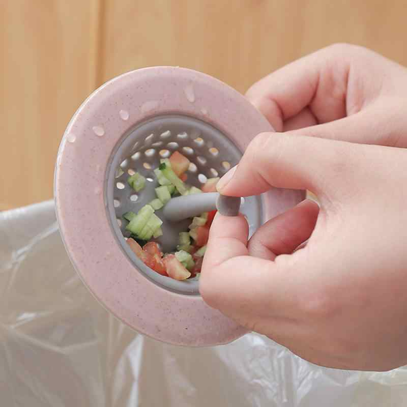 Silikon Jerami Gandum Wastafel Dapur Saringan Kamar Mandi Shower Tiriskan Saluran Air Penutup Sink Saringan Selokan Filter Rambut Saringan