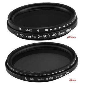 Image 2 - 40.5mm/46mm Fader değişken ND filtre ayarlanabilir ND2 to ND400 ND2 400 nötr yoğunluk Canon NIkon Sony için kamera Lens