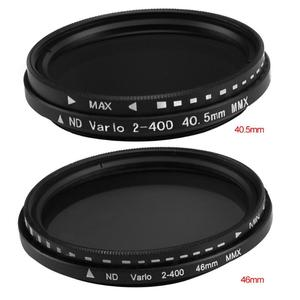 Image 2 - 40.5mm/46mm fader nd variável filtro nd2 ajustável para nd400 ND2 400 densidade neutra para canon nikon sony lente da câmera