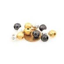 Матовый золото бусины изысканный мода сделай сам браслет ожерелье кулон круглый бусина аксессуары