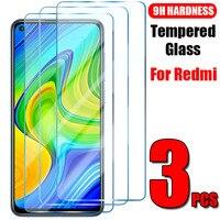 3 PEÇAS de Vidro Temperado Para Xiaomi Redmi Nota 10 9 8 7 Pro 10 9 8 7 8 10 9S S T de Vidro da Tela Para Redmi 9 8 7 9A 8A 7A 9i 9C