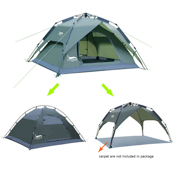 Desert&Fox Automatic Tent 3-4 Person Camping Tent,Easy Instant Setup Protable Backpacking for Sun Shelter,Travelling,Hiking 5