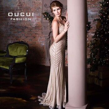 Luxury Tulle Crystal Mermaid Plus Size Evening Dress Long 2019 Vestidos De Fiesta De Noche Prom Dresses Robe De Soiree OL102829 2