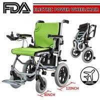 Leichte Mobilität Elektrische Power Rollstuhl Tragbare Falten Für Alte Ältere Behinderte Rollstuhl    -