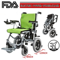 Lightweight Mobility Electric Power Wheelchair Portable Folding For Old Elderly Disabled