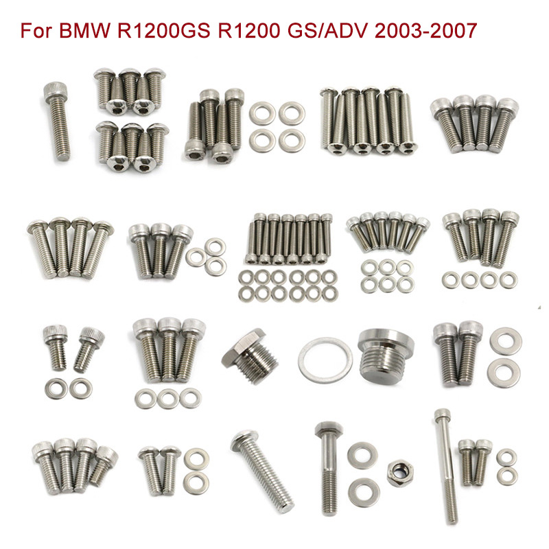 R 1200 <font><b>GS</b></font> Stainless Steel Fastener Screws Nuts For <font><b>BMW</b></font> R1200GS <font><b>R1200</b></font> ADV <font><b>GS</b></font> Adventure 2003 - <font><b>2007</b></font> Motorcycle Fairing Body Bolts image