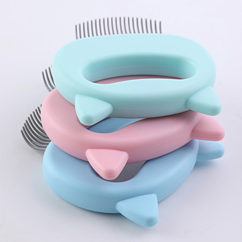 Cat Grooming Massage Brush with Shell Shaped Handle to Repair Withered and Yellow Hair of Cat 3