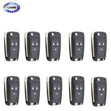Blank-Cover-Casing Chevrolet Cruze Shell-Case Flip-Remote-Key 3-Buttons for 10pcs/Lot