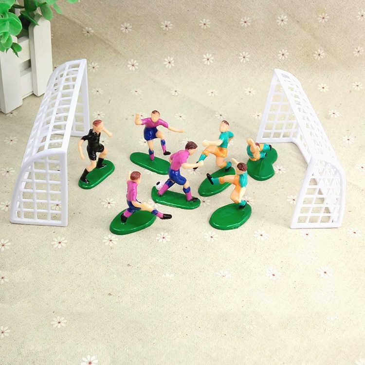 8 pçs/set Futebol Futebol Basquetebol Bolo Topper Crianças Decoração Feliz Aniversário Do Queque Fontes Do Partido Crianças Decoração Do Partido Do Bebê