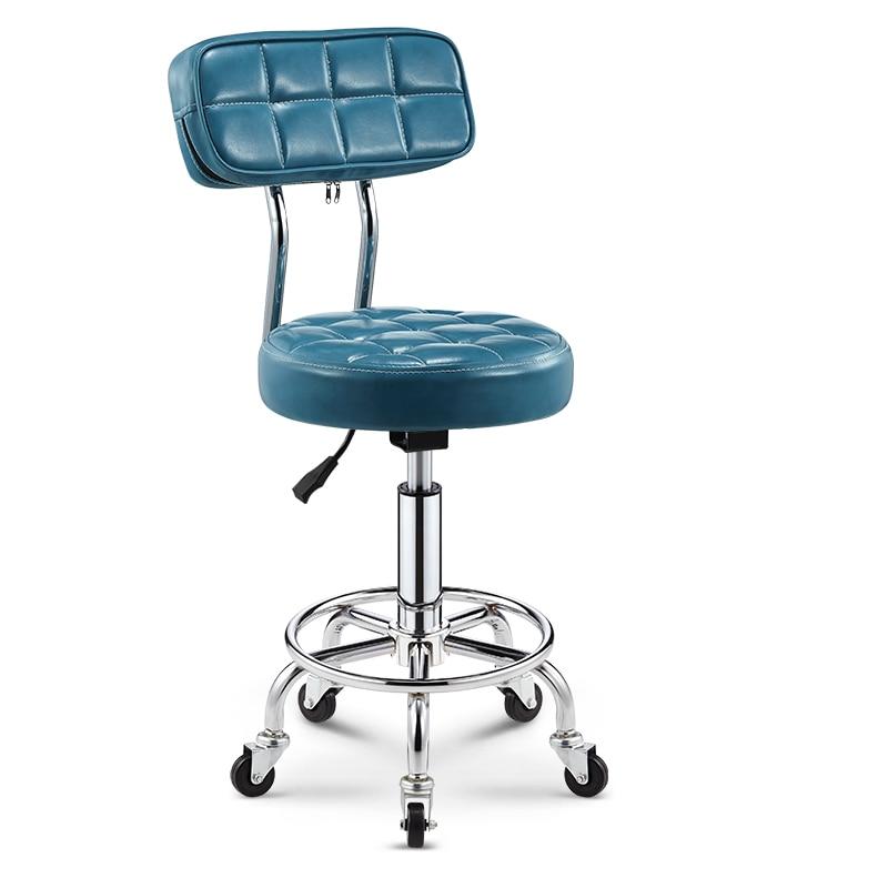 Bar Chair Wine Beauty Chair Backrest High Stool Rotating Lifting High Bar Chair Bar Stool Round Chair