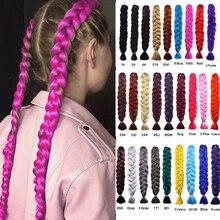 82Inch Synthetic Jumbo Braids hair 165g/Pack Kanekalon Blonde Crochet Braiding