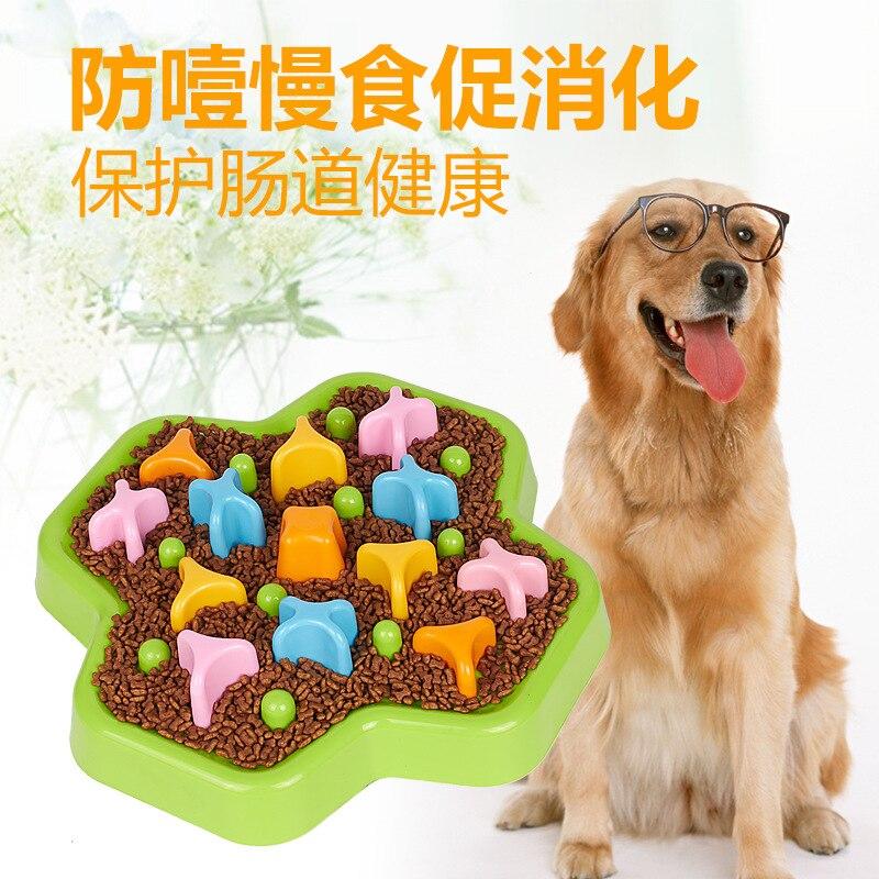 Bol de nourriture lente Anti-starter éducatif rotatif chiens et chats jouet bol de nourriture fournitures pour animaux de compagnie garder animal de compagnie lent nourriture bassin de riz