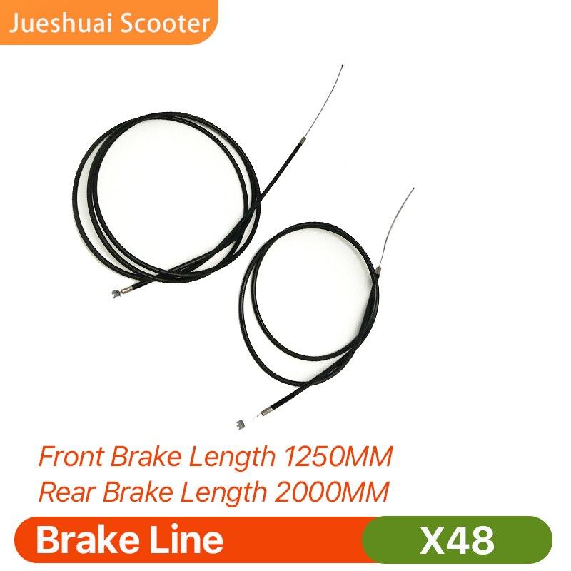 Scooter elétrico x48 linha de freio dianteiro linha 1250mm linha freio traseiro 2000mm scooter elétrico x48 exclusivo accessoires