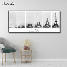 The Construction Of  Tower Canvas Wall Pictures For Living Room On Home Decor cuadros