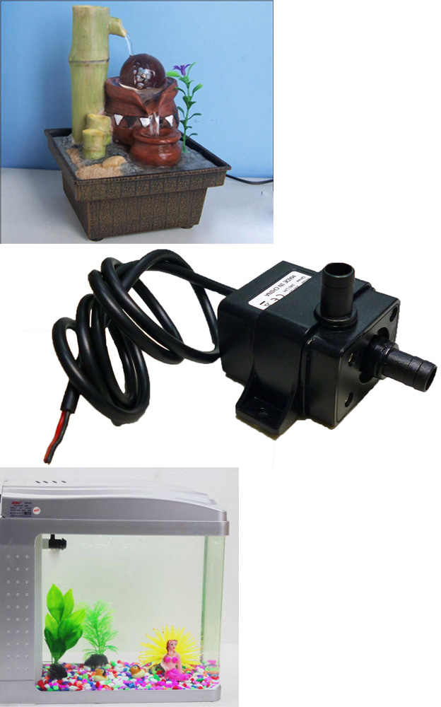 Hot ULTRA-Quiet Brushless Submersible น้ำคุณภาพสูงมินิไฟฟ้า submersible waterpump DC 12V 3M 240L/H 5W