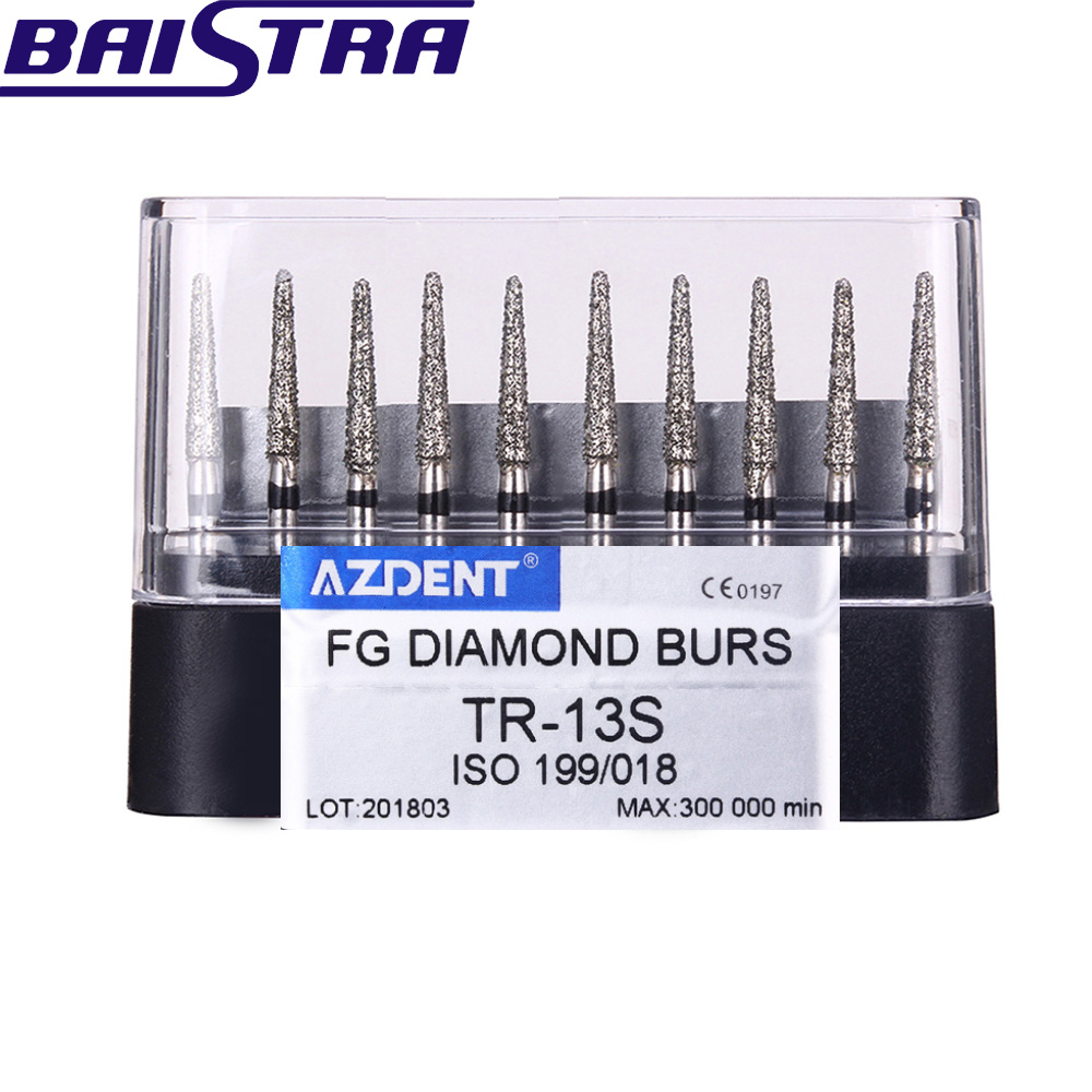 TR-13S 10 Pcs/set Dental High Speed Diamond Burs  Dentist Tools Teeth Whitening Matreial Dental Lab Tools