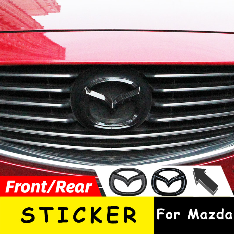 1pc ABS Front Trunk <font><b>Sticker</b></font> For <font><b>Mazda</b></font> Axela Atenza CX4 CX5 CX-<font><b>5</b></font> Rear Tail Emblem Replacement Badge New Exterior Auto Decoration image