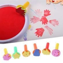 6pcs EVA Seals Baby Educational Drawing Toy Graffiti DIY Kids Painting Drawing QX2D