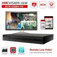 Hikvision oem poe nvr anpviz 4k 8mp 8ch gravador de vídeo em rede 8 poe h.265 + hik-conectar gerenciamento de rede até 6tb onvif