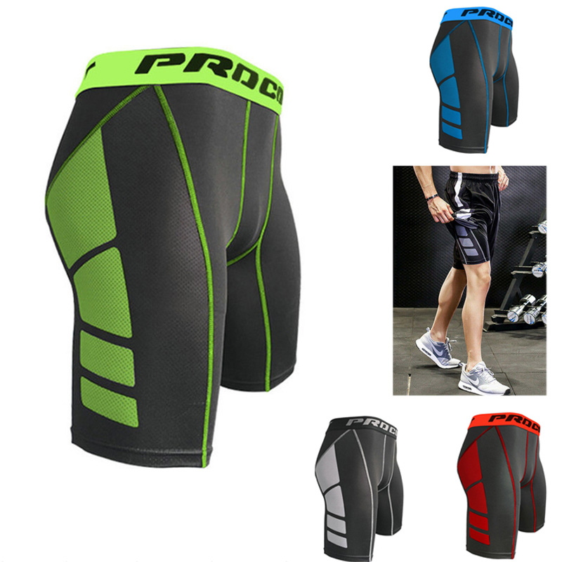 Men Fitness Gym Sports Shorts Quick Dry Training Tight Short Pants Men Sports Running Football Basketball Pants Shorts