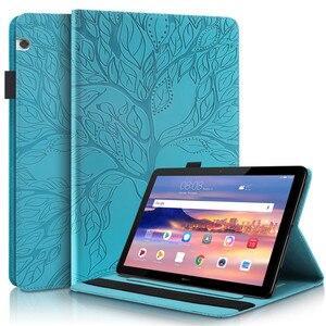 Чехол-книжка с подставкой для Huawei MediaPad Media Pad T5 10 3D Дерево тисненый чехол для планшета Huawei MediaPad Media Pad T5 T 5 10,1