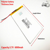 Good Qulity 3.7V,6000mAH 3083150 Polymer lithium ion / Li-ion battery for tablet pc BANK,GPS,mp3,mp4
