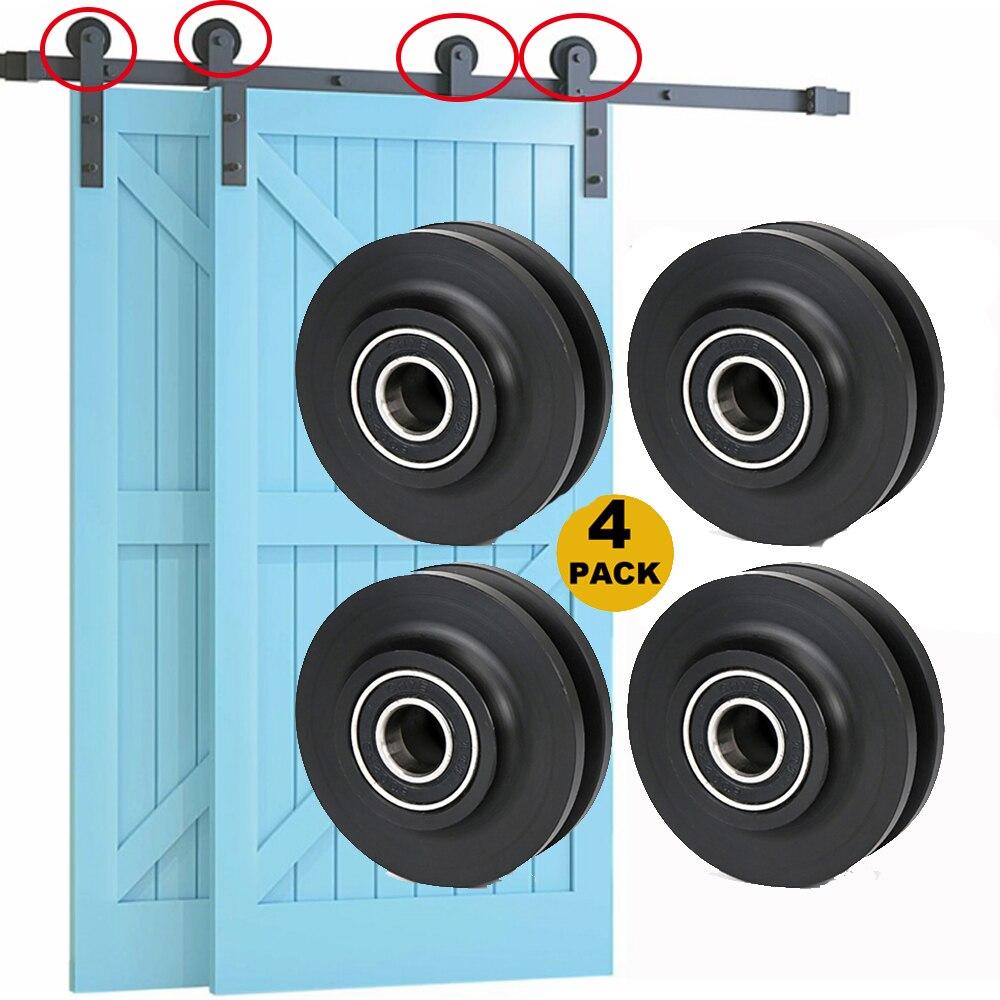 4 шт. Замена Раздвижные двери сарая колеса шкафа аппаратные средства ролик окна шкив для межкомнатных дверей шкаф с выдвижными ящиками двер...