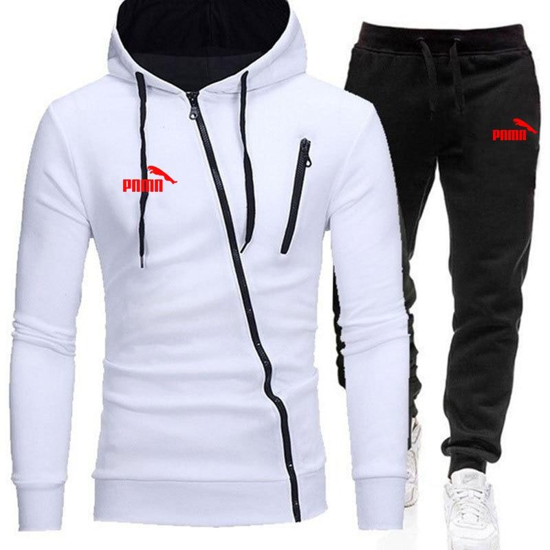 Men's Sets Casual Sportswear Tracksuits Sets Men's Zipper Sporting Hoodies+Pants Sets brand Outwear sports Suits men Hoodie New