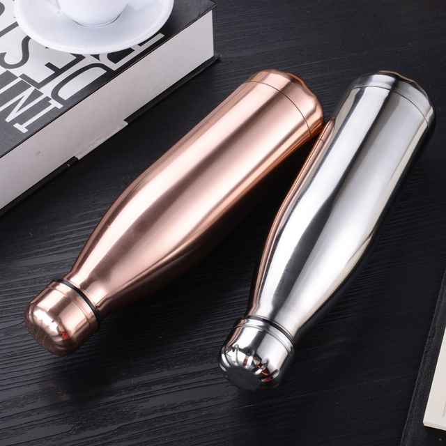 Stainless Steel Hot Cold Thermos Water Bottle Vacuum Insulated Cola Bottle Double-Wall Outdoor Travel Gym Sports Flask 5