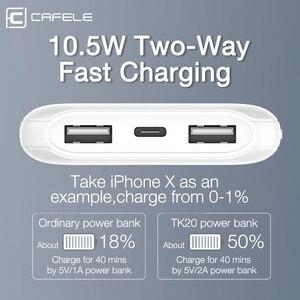Image 3 - CAFELE 10000mah Accumulatori e caricabatterie di riserva Display A LED Powerbank Batteria Esterna Dual USB Caricatore Portatile di Ricarica PoverBank per Huawei Xiaomi