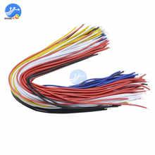 100 adet çift kafa PCB lehim kablosu 20CM Breadboard Fly Jumper tel kablo dönüştürücü konnektör teneke İletken 5 renk