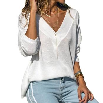 Blusa Casual suelta ropa de mujer con camisa de manga larga camisa de fondo elegante para mujer Camisas Blusas