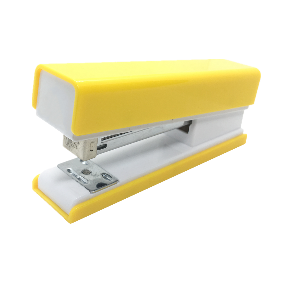 Yellow Stapler Desktop Manual Staplers For Office School Supplies With Non-slip Base Desk Stapling Tool Spring Power Staplers
