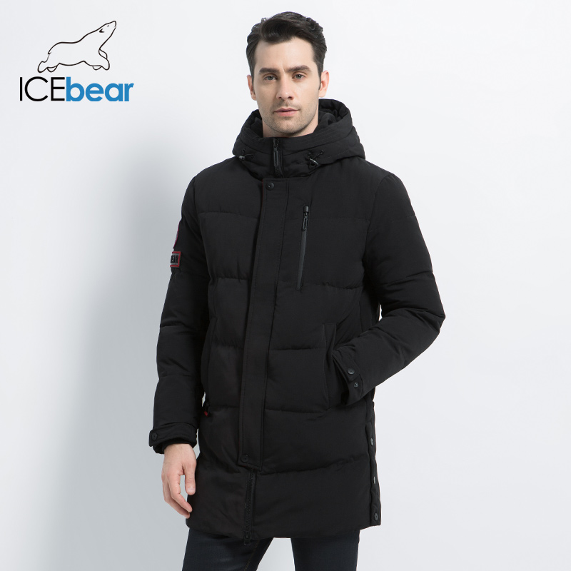 ICEbear 2019 New  Winter Warm Fashion Casual Coat Men Jacket Warm Windproof Hood Men Parkas High Quality Coat  MWD18856I-in Parkas from Men's Clothing    1