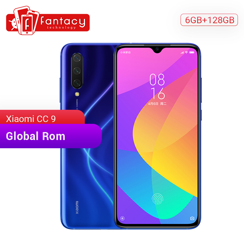 "Global Rom Xiaomi Mi CC9 CC 9 6GB RAM 128GB ROM Mobile Phone Snapdragon 710 48MP Triple Camera 32MP Front Camera 6.39"" AMOLED"