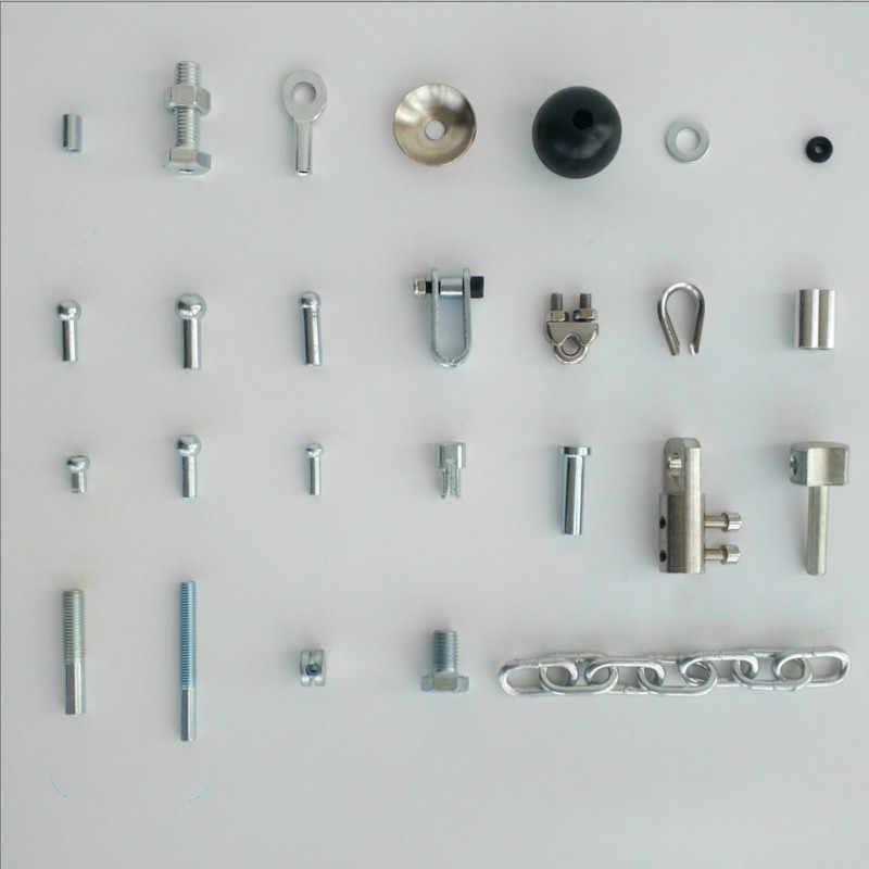 Gym Accessoires 5 Mm/6 Mm Kabel Interface Onderdelen Poort Componenten Fitness Apparatuur Accessoires Keten Draad Touw Poort Joint onderdelen