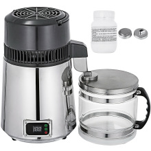 Digital-Control VEVOR Purified Water-Distiller Temperature Stainless-Steel Home for Kitchen
