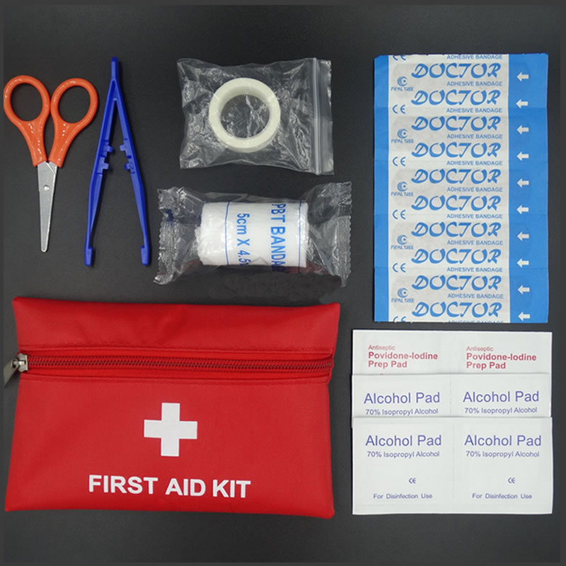 8Pcs Set First Aid Kit Travel Accessories Outdoor Waterproof Family MINI Safe Emergency Sport Survival Medical Treatment Kit