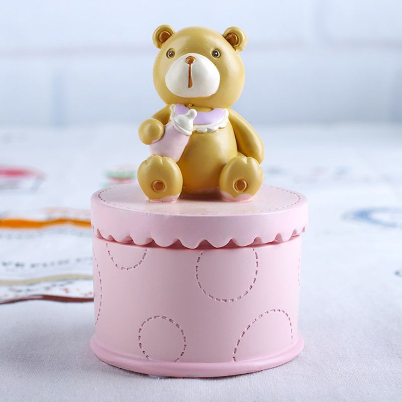 Funny Cute Bear Baby Deciduous Teeth Box Infants Lanugo Collection Boxes Creative Birthday Souvenir Gifts For Children Kids