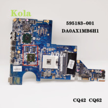 595183-001 631596-001 615580-001 608824-001 Voor Hp CQ42 G42 G62 CQ62 Laptop Moederbord DAOAX1MB6F0 DA0AX1MB6H1 100% Volledig Test