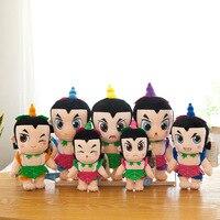27cm 7pcs Cute Cartoon Calabash Brothers Doll Plush Toys Soft Plush Doll Children Toy Birthday Gift