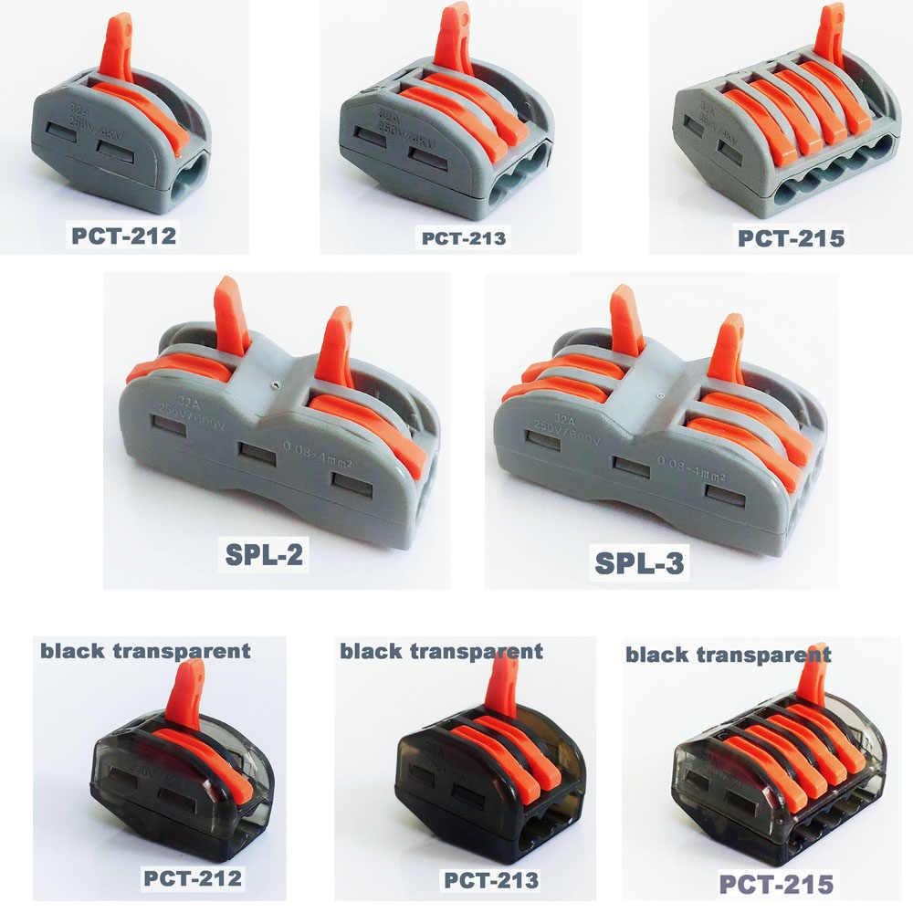 Connettore del cavo mini veloce connettore di alimentazione Universale push Connettore plug-in morsettiera filo 4 pin plug in connettore del cavo