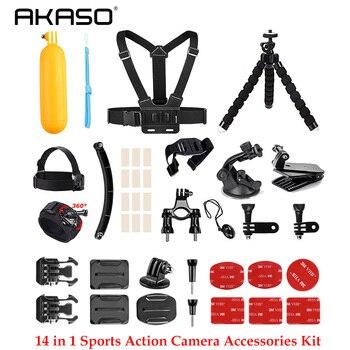 AKASO Outdoor Sports Action Camera Accessories Kit 14 in 1 for AKASO EK7000/ EK7000 Plus/ EK7000 Pro/Brave 4/ V50/ V50 Pro/ V50
