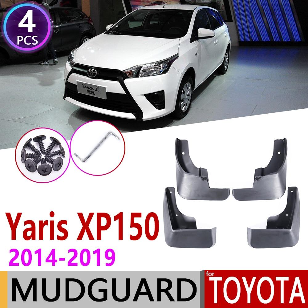 Mudflap For Toyota Vios Yaris XP150 Hatchback 2014~2019 Fender Mud Guard Splash Flaps Mudguard Accessories 2015 2016 2017 2018