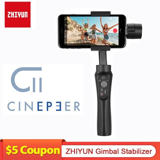 ZHIYUN CINEPEER C11 Gimbal гидростабилизатор на шарнирном замке с 3 ручной шарнирный стабилизатор для камеры GoPro карданный стабилизатор для камеры для iPhone/Samsung/Xiaomi