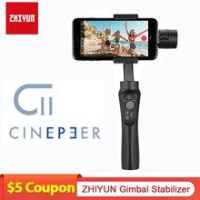 Zhiyun cinepeer C11ジンバルスマートフォン3軸ハンドヘルドレスジンジンiphone/サムスン/xiaomi