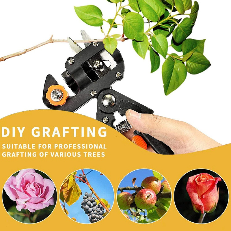 Tools : Professional Garden Fruit Tree Plant Pruning Shears Grafting Cutting Tool Kit with Grafting Tape Rubber Bands