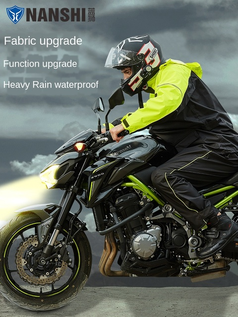 Nylon Motorcycle Raincoat Rain Pants Suit Thin Rain Jacket Poncho Waterproof Rain Coat Men Thickened Rain Suits Impermeable Gift 2
