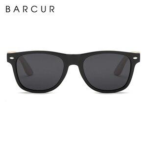 Image 4 - نظارة شمسية جديدة مستقطبة مصنوعة يدويًا من خشب البامبو من BARCUR نظارة شمسية للشاطئ للرجال والنساء تصلح كهدية